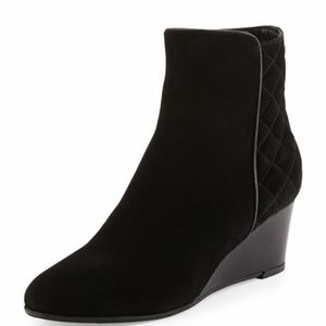 Aquatalia Janet Wedge Quilted suede boots